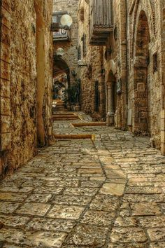 Via Dolorosa. Where Jesus walked through with his cross on his way to calvary.