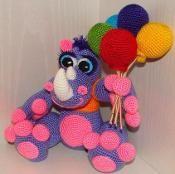 Crochet Rhino Gift - via @Craftsy