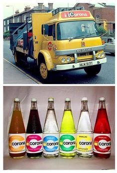 """Who remembers the pop man? 1980s Childhood, Childhood Memories, Vintage Trucks, Vintage Toys, Corona Drink, Retro Sweets, 70s Sweets, Old Lorries, Sweet Memories"