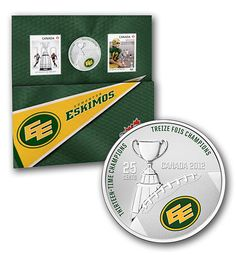 2012 Coloured Coin and Stamp Set- Edmonton Eskimos / Ensemble pièce de … – oidis Stamp, Football, Retro, Coins, Canada, Lovers, Paper, Sports, Hs Football