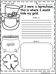 This is a leprechaun writing activity available on Madebyteachers.com. Great for St. Patrick's Day and March.  {freebie}