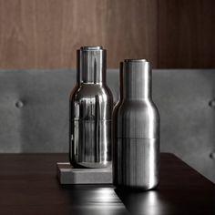 Menu Pfeffer- & Salzmühle Bottle Grinder-Set small stainless steel