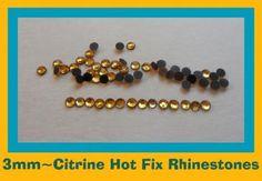 4003MMSS10CITRINEHOTFIX RHINESTONESIRON ONFLATBACK STONES