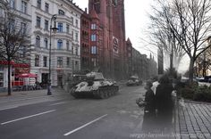 photographer Sergey Larenkov blended WWII photos with photos of same locations today