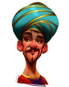 Oriental man, Hossein Ojaghi on ArtStation at https://www.artstation.com/artwork/NO2Qq