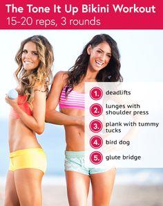 @toneitup's Karena and Katrina's Favorite Bikini Body Workout #tiuteam