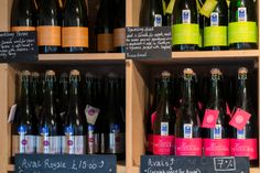 Colourful shelves of Cornish wine at Polgoon (Cornwall). Photo credit: Rob Jewell at www.rjphoto.co.uk