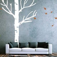 Wandtattoo Herbstbaum: Dieses Motiv wirkt am eindrucksvollsten im Großformat. Es bringt eine wunderbar ruhige Atmosphäre ins Zuhause. Stimme dazu die Farbe Deines Baumes auf die farbliche Umgebung Deines Zimmers ab. Dieses Motiv wir als Set in einzelnen Teilen geliefert!