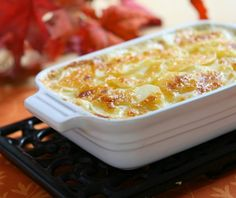 The humble potato shines in this elegant casserole. Yukon Gold Potatoes, Sliced Potatoes, Humble Potato, Food Categories, Greek Recipes, The Dish, Casserole Dishes, Macaroni And Cheese, Side Dishes