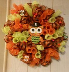 Owly Halloween Wreath
