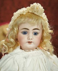 The Memory of All That - Marquis Antique Doll Auction: 242 German Bisque Child by Simon and Halbig in Lovely Original Condition