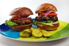 Mushroom-Chickpea Burgers