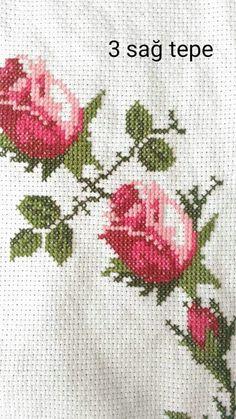 Discover thousands of images about İsim: Görüntüleme: 1328 Büyüklük: KB (Kilobyte) Cross Stitch Borders, Cross Stitch Rose, Cross Stitch Flowers, Cross Stitch Charts, Cross Stitch Designs, Cross Stitching, Cross Stitch Embroidery, Hand Embroidery, Cross Stitch Patterns