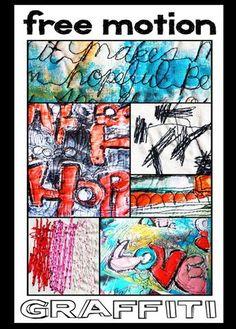 Free motion graffiti online class with Alisa Burke
