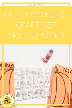 Fall Themed Accordion Craft Set for Articulation