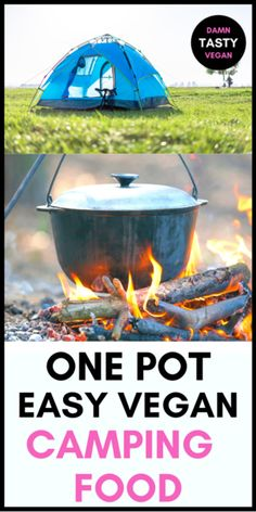One pot, easy vegan camping food idea. No fuss easy vegan meal prep for camping. Only one pot or pan will do. Minimal ingredients, pantry staples, easy to make and quick. #vegan #campingfood #vegancampingfood #onepan Vegan Meal Prep, Vegan Dinner Recipes, Vegan Snacks, Vegan Recipes Easy, Vegan Ideas, Vegan Soups, Vegan Dishes, Vegetarian Camping, Camping Food Healthy