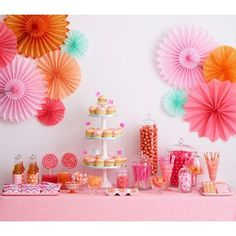 Pink and Orange Candy Buffet | Orange & Pink Candy Buffet | Photo Gallery | CandyWarehouse.com Online ...