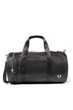 Fred Perry - Pique Textured Barrel Bag Black Fred Perry Bag, Mens Fred  Perry, 684c99df4e