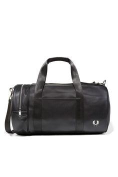 Fred Perry - Pique Textured Barrel Bag Black