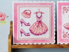 In the pink - a fab new fashion #crossstitch chart for you. Register for free at www.cross-stitching.com and download our #freebies!
