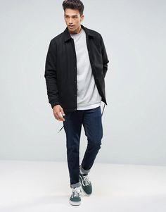 ASOS | ASOS Wool Mix Coach Jacket in Black
