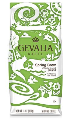 spring packaging for coffee.