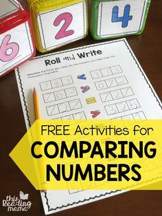 FREE Activities for Comparing Numbers - This Reading Mama