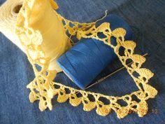 Crochet Orilla  Abanicos Pequeños