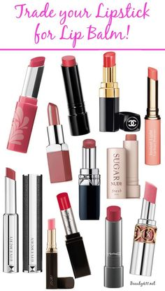 Trade in your lipstick for tinted lip balm!