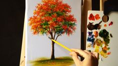 How to Paint a Tree with Acrylic Lesson 12