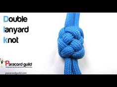 How to tie a double lanyard knot - Paracord guild