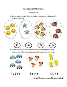 Fise de lucru - gradinita: FISE de evaluare initiala Grupa Mare Motor Skills Activities, Fine Motor Skills, Preschool Activities, Preschool Worksheets, Romance Books, Kids Education, Teaching Math, Homeschooling, Kindergarten