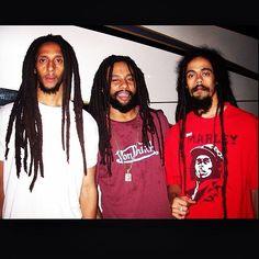 Julian, Ky-Mani and Damian Marley Damian Marley, Reggae Style, Reggae Music, Music Music, Marley Brothers, Black Music Artists, Reggae Bob Marley, Marley Family, Jah Rastafari