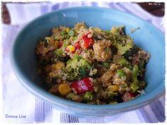 Salada quente de quinoa / Quinoa salad