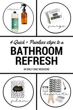 Bathroom Refresh: 4 Steps to a WEEKEND Makeover! | Houseologie