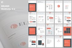 Brand Manual by Egotype on Creative Market Graph Design, Tool Design, Web Design, Layout Design, Design Guidelines, Brand Guidelines, Brochure Design, Brochure Template, Corporate Design Manual