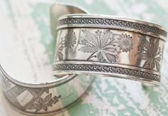 "Heather Bullard. Finds from Alameda Flea Market. San Francisco. ""I have a collection of these cuff bracelets made from antique sterling silver napkin rings."""