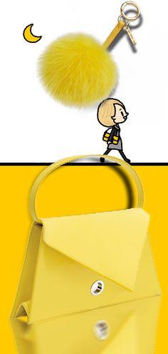 Loewe Triangle Bag + Fendi Baguette Triangle Bag, Bridal Salon, Types Of Bag, Yellow Fashion, Shades Of Yellow, Lemon Yellow, Happy Colors, Mellow Yellow, Shoe Box
