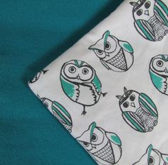 Baby Blanket Handmade Owls Flannel Personalized Blanket Baby Shower Gift Stroller Blanket