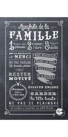 MANIFESTE DE LA FAMILLE {Parce que la classe est une sorte de famille!}