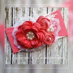 Vintage Headbands, Baby Girl Headbands, Garter Belt Wedding, Rose Headband, Felt Christmas Ornaments, Diy Hair Bows, Ribbon Work, Flower Making, Street Hijab
