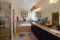 A spacious master bath featuring a #spa #bathtub!