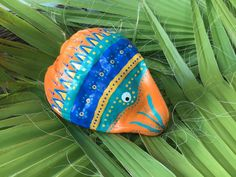 Hand painted coconut fish | Etsy