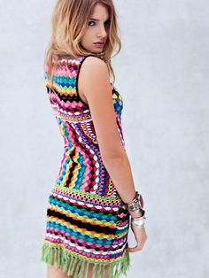 Crinochet: Free People Connected in Crochet Fringe Dress - I need this!!!