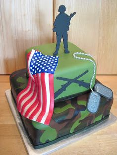 Heather's Cakes and Confections: Army Groom's Cake