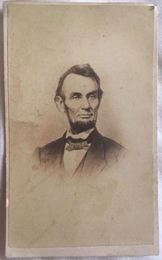 1860's CIVIL WAR CDV PHOTO OF PRESIDENT ABRAHAM LINCOLN - CDV Rare & Nice Shape!