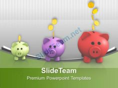 Image Of Increasing Piggy Banks Powerpoint Templates Ppt Themes And Graphics 0213 #PowerPoint #Templates #Themes #Background
