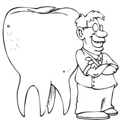 going to the dentist coloring page for kids