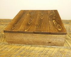 Rustic Wood Cake Stand  16x16 18x18 or by HomesteadTraditions