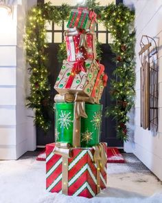 Show off your playful holiday spirit and display on the front porch to greet guests and neighbors